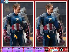 10 diferente cu Capitanul America
