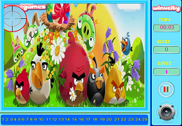 Angry Birds gaseste numerele ascunse