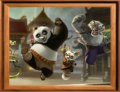 Aranjeaza piesele cu kung fu panda