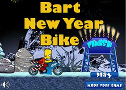 Bart cu motocicleta de Anul Nou