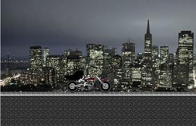 Batman cavalerul motociclist