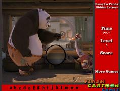 Cauta literele cu Kung Fu Panda