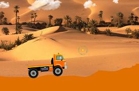 Curse cu camionul prin desert