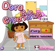 Dora se imbraca pentru munca