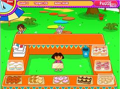 Dora serveste prajituri