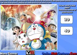 Puzzle cu Doraemon