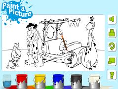 Familia Flinstone de colorat 2