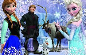 Frozen Regatul inghetat gaseste literele ascunse