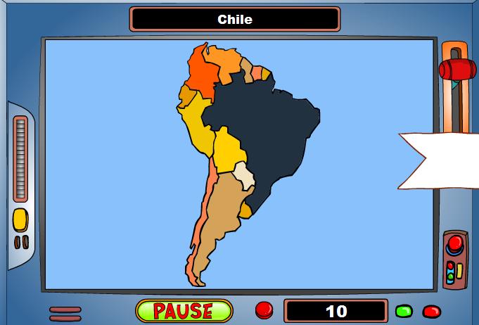 Harta Americii de Sud