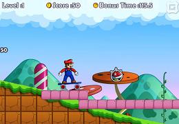 Mario cu skateboard-ul