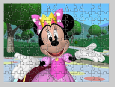 Mickey mouse puzzle cu Minnie