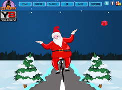 Mos Craciun bicicleta si cadourile