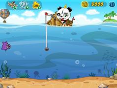 Panda la pescuit
