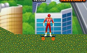 Power Rangers cu skateboardul