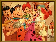 Puzzle mania cu Familia Flinstone