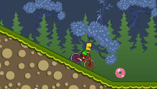 Simpson cu bicicleta