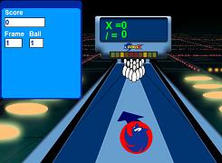 Sonic la bowling