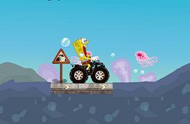 Spongebob cu atv-ul subacvatic