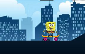 Spongebob cu skateboard-ul