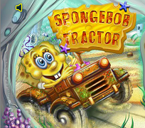 Spongebob cu tractorul