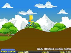 Bart Simpson cu bicicleta