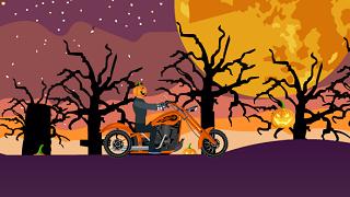 Curse cu motocicleta de Halloween