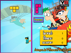 Tetris cu Phineas si Ferb